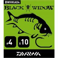Hameçons DAIWA BLACK WIDOW CARPE pour pêche carpe