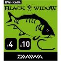 Hameçon DAIWA BLACK WIDOW CARPE Hameçon N°2 à N°8 (Sachet de 10)