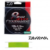 TRESSE DAIWA TOURNAMENT 8 BRAID EVO CHARTREUSE HIGH VISIBILITY - 135 m
