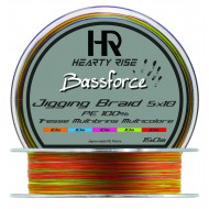 TRESSE MULTICOLORE Hearty Rise BASSFORCE JIGGING BRAID X4 - 300 m