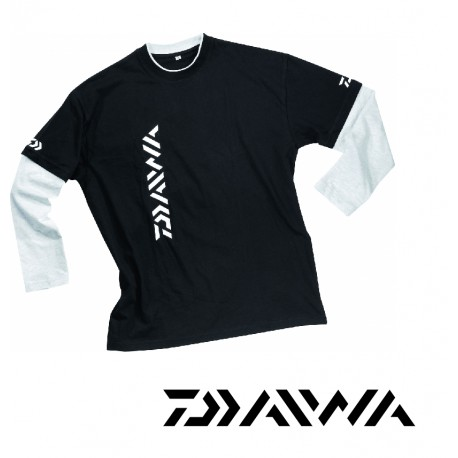 Tee-shirt daiwa homme manches longues bicolore