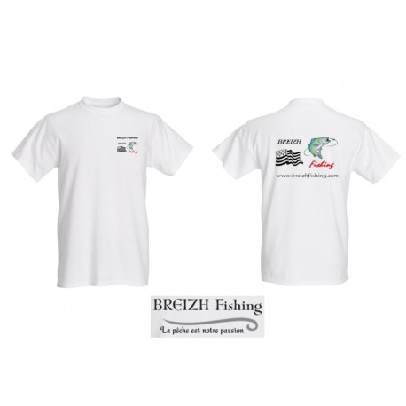 T-SHIRT BREIZH FISHING BLANC