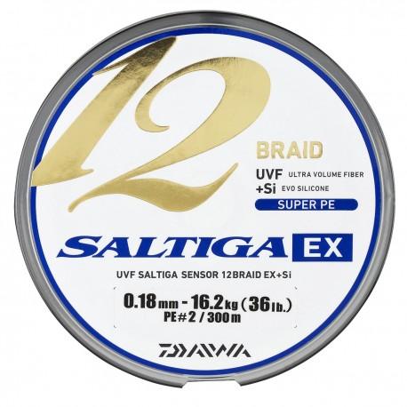 TRESSE DAIWA SALTIGA 12 BRAID EX MULTICOLORE 300m et 600m
