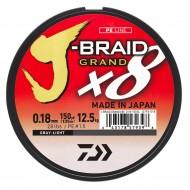TRESSE DAIWA J-BRAID GRAND X8 GRIS - 135m et 270m