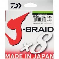 TRESSE DAIWA J-BRAID X8 CHARTREUSE - 150m